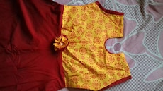 yellow and red floral sleeveless dress