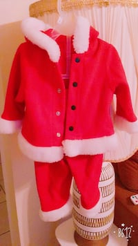 red and white Santa Claus jacket