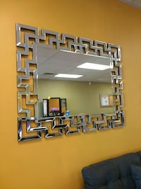 brown wooden framed wall mirror 2055 mi