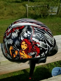 black and red full-face helmet Winchester, 22603
