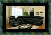 Cshape sectional black bonded leather Takoma Park, 20901