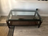 rectangular glass top coffee table
