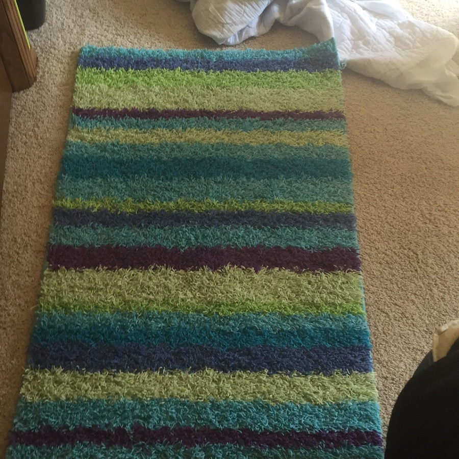 Letgo Green Purple And Blue Area Rug In Coon Rapids Mn