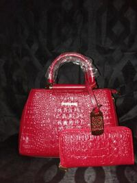 red and black leather tote bag Jefferson City, 65101