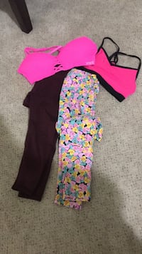women's two pink and black pants Virginia Beach, 23455