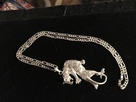 925 panther necklace