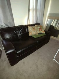 black leather couch, and chair Woonsocket, 02895