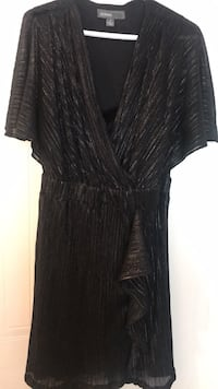Donna Rocco size 8 new dress black with silver