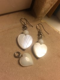 Pendant and earrings