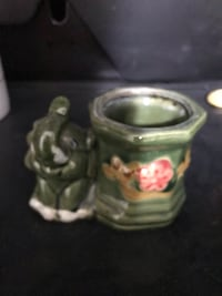 About 3 inches tall 4 long/ small elephant planter