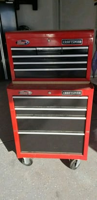 red and black Craftsman tool chest Joliet, 60431