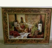 30×40 in wine painting with painted wood frame Ballwin, 63021