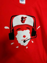 Orioles magic shaving cream pie face t shirt.