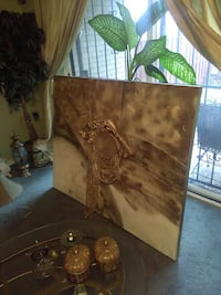 brown and white abstract painting Washington, 20018