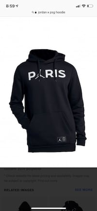 Jordan x PSG hoodie! Authentic size M and L with tags North Vancouver, V7P 1S8