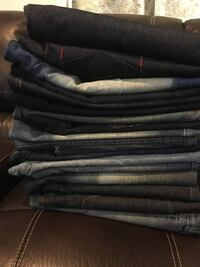 Men's jeans size 40 and 42 5 long jeans and 12 short jeans  North Las Vegas, 89030