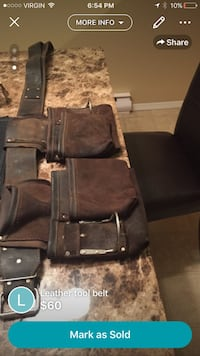 brown and black leather utility belt