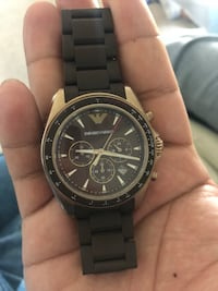 round black Michael Kors chronograph watch with black link bracelet Savage, 20763