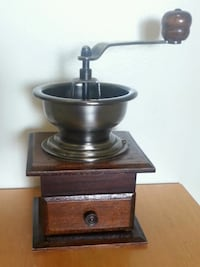 Antique Wooden Manual Coffee Grinder