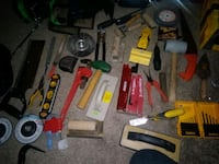 Assorted new and used tools and antiques, electronics and misc.