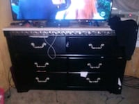 black and gray wooden TV stand Newport News, 23607