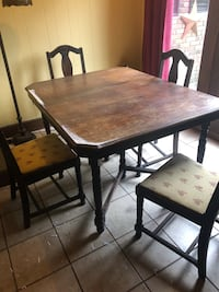 rectangular brown wooden table with four chairs dining set Anderson, 29621
