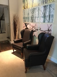 Soft Leather Chocolate Armed Chairs Mississauga