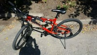 red and black full-suspension mountain bike Toronto, M2M 3S9