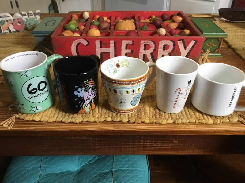 ASSORTED MUGS ~ DIFFERENT WEIGHT AND COLORS 7f6f5dbe-8154-4dbd-bda9-30bc14ecd3c8