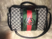 Black and brown gucci monogram leather handbag Abingdon, 21009