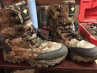 Pair of brown-and-black survivors tree camouflage snake boots Forest, 24551