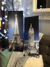 Eiffel Tower, Paris, France and Chrysler Tower posters