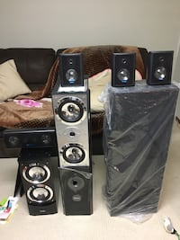 NEW Home theater speakers set of 8