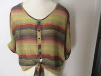 Multi-Colored Sheer Blouse Morristown
