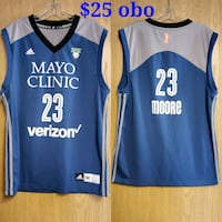 blue and white Adidas Los Angeles Lakers jersey Sartell