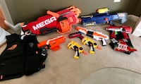 8 Nerf Guns / 2 vests Gainesville