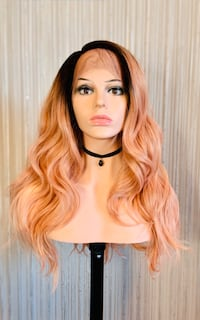 Gorgeous Coral Pink Lace Front Wig for Everyday Calgary, T2P