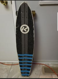 black and gray pintail longboard Coquitlam, V3J 4J3