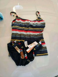 black, red, and white striped crop top San Diego, 92111