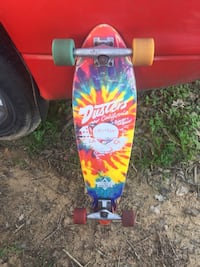 Red, blue, and yellow longboard Hearne, 77859