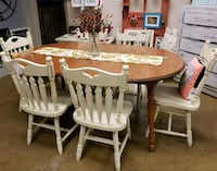 Maple Table with 2 Leaves and 6 Chairs Midlothian, 23114