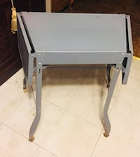 "Vintage 1950 ALL MEDAL FOLDING OFFICE TABLE with Wheels ""Mint"" Condition Quincy, 02169"