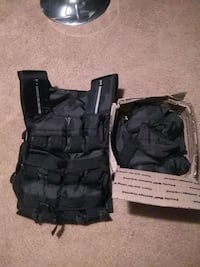 Adult weight vest with weights