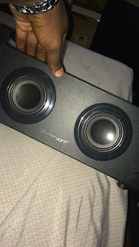 Black and gray subwoofer speaker Jacksonville, 72076