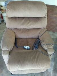 brown fabric recliner/Lift Chair Modesto