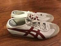 White leather sneakers size men's 8