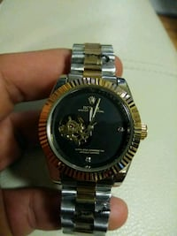 round gold-colored Rolex analog watch with link bracelet Medford, 02155