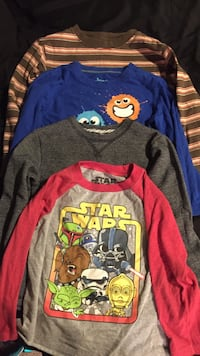 Size 5 kids long sleeve shirts total of four Atwater, 95301