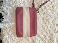Pink and white coach wristlet Drexel Hill, 19026