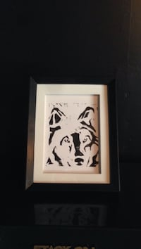 black and white wolf painting 3085 km